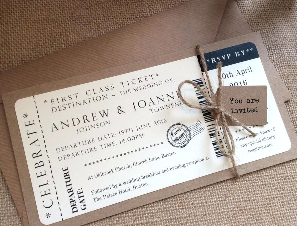 Ticket Wedding Invitations Plus