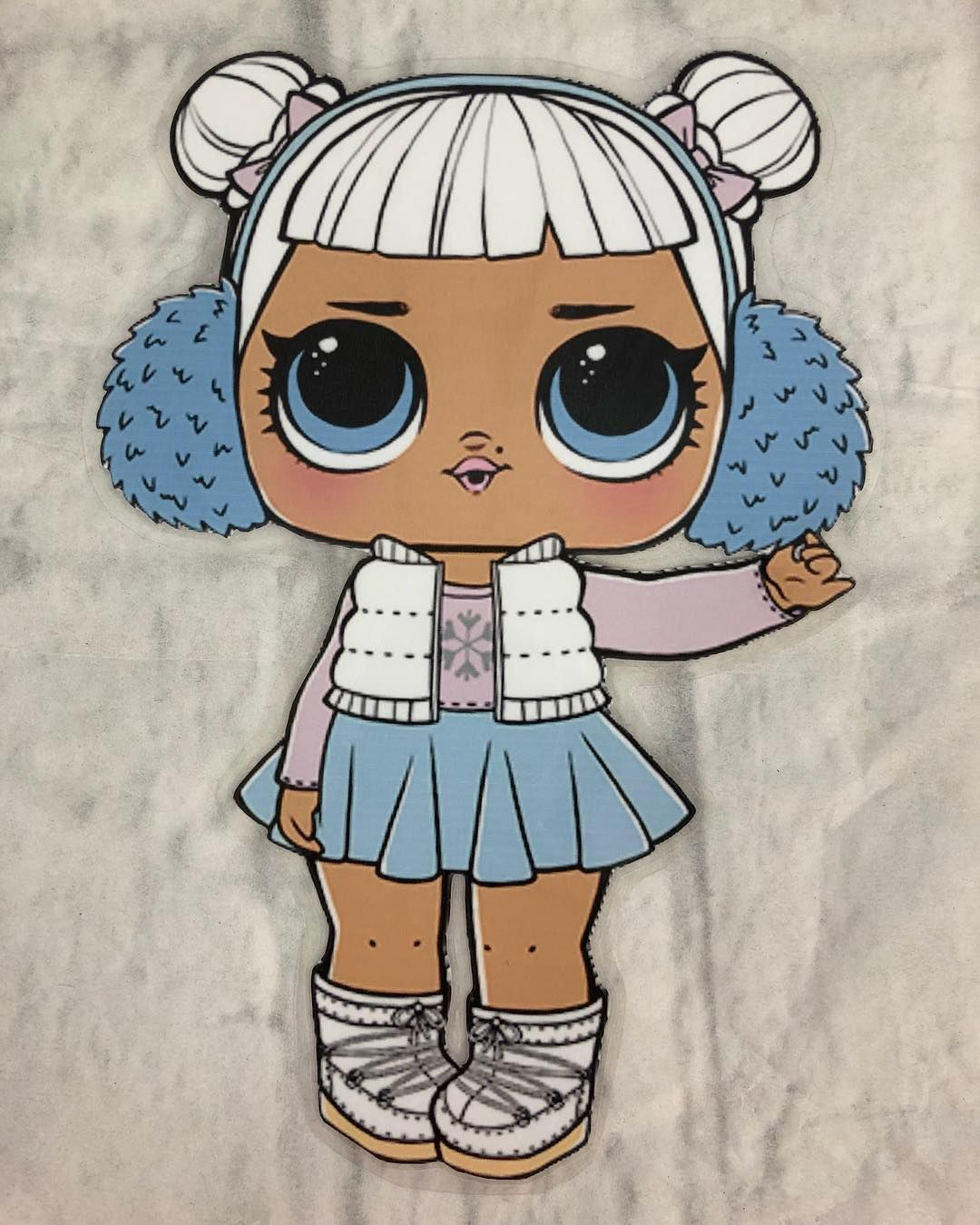 Check Out Lol Surprise Doll Snow Angel Laminated Paper Doll Decoration Gift New Handmade Oldcrowstreasures247 Follow Store Link T Lol Dolls Lol Snow Angels
