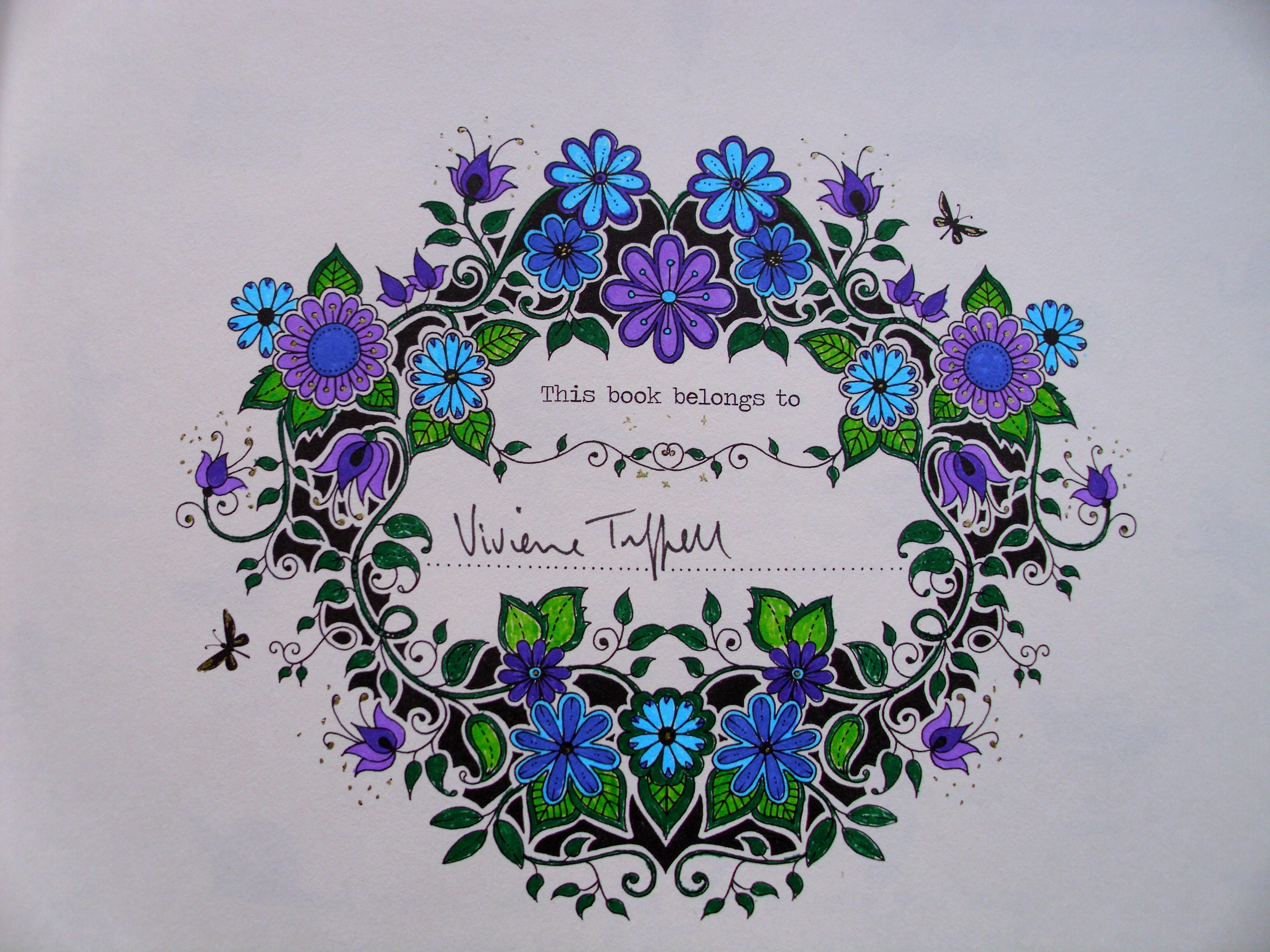Adult Colouring Coloured Pages