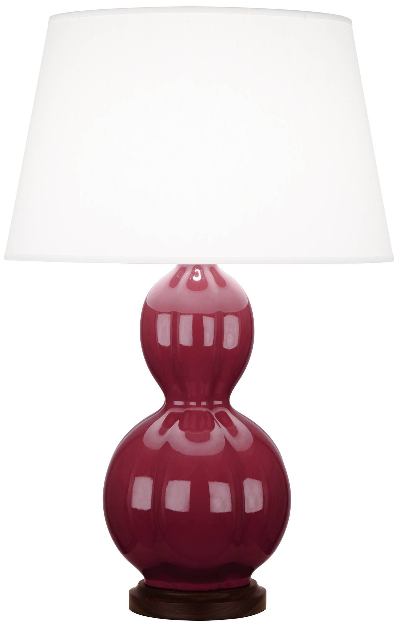 Randolph plum ceramic table lamp with walnut wood ceramics randolph plum ceramic table lamp with walnut wood geotapseo Images