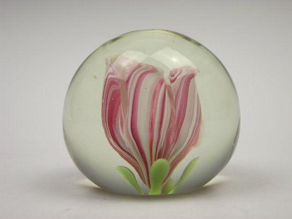 Vetreria archimede seguso murano pink white flower glass vetreria archimede seguso murano pink white flower glass paperweight mightylinksfo
