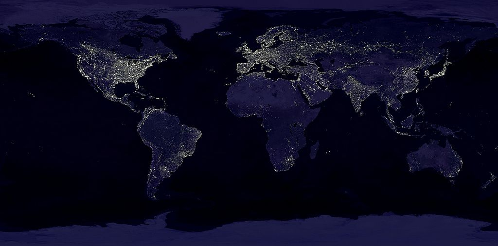 Where The Lights At World Map Wallpaper Earth At Night World Map