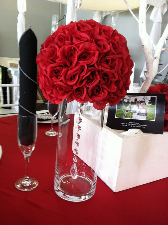 Rose ball centerpiece by affordableeelegance on etsy