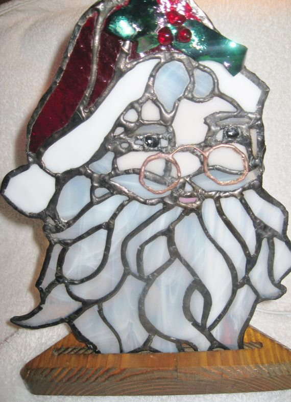 Christmas stained glass light by The2GlassyGrannies on Etsy