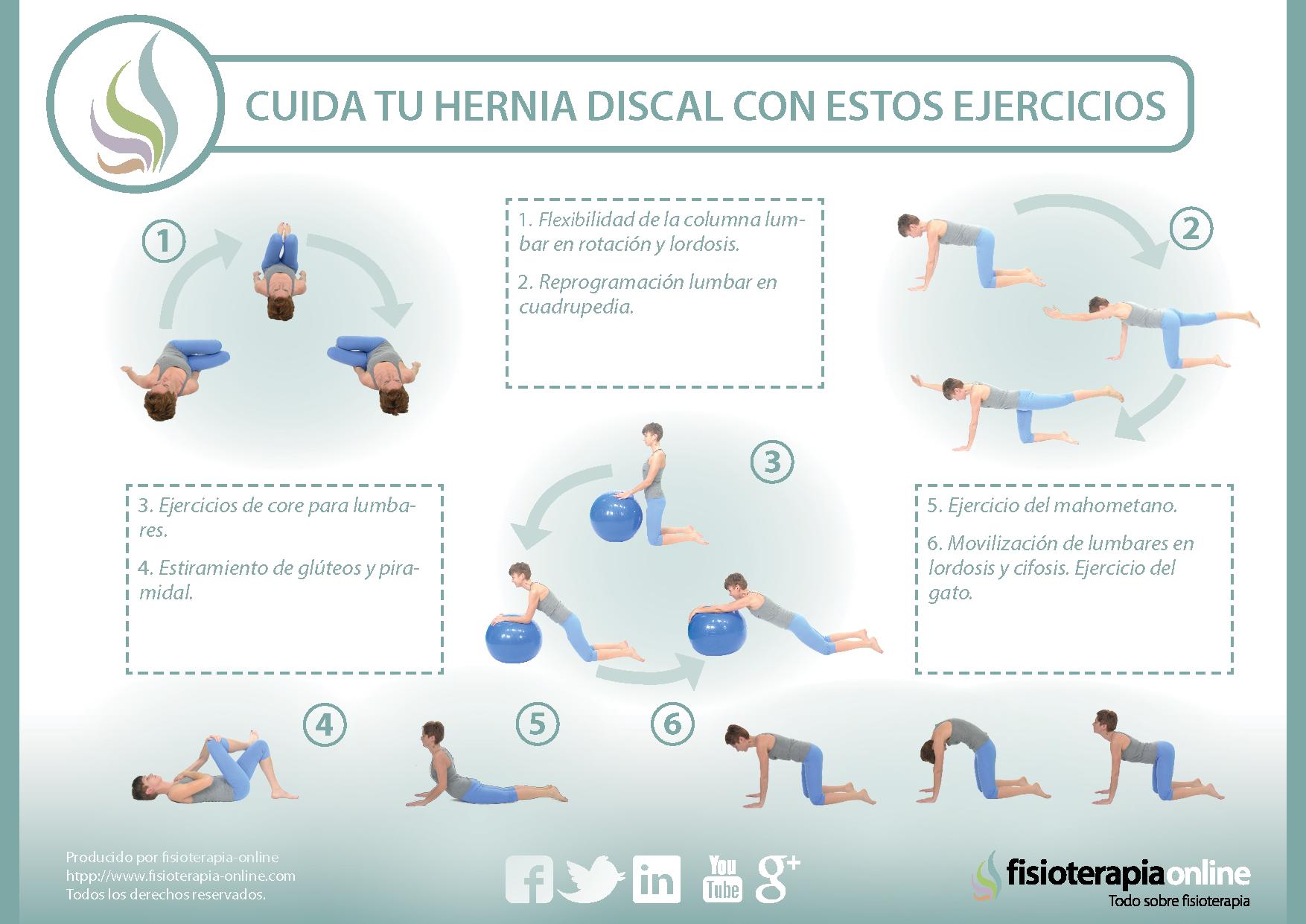 8 sencillos ejercicios para cuidar y mejorar la hernia..