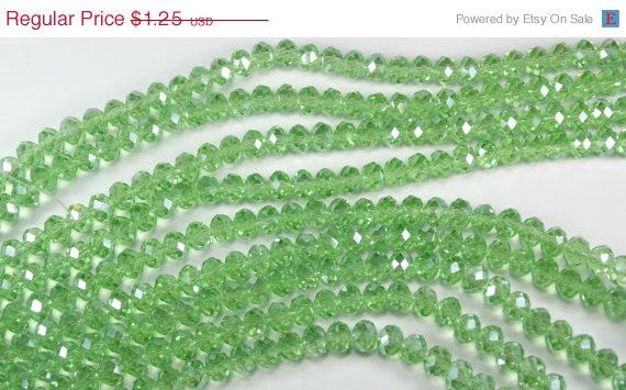 20% Off 25 Green Peridot Abacus (oval) Crystals- Iridescent- 8mm x 6mm by texasfindingsnmore on Etsy https://www.etsy.com/listing/107929044/20-off-25-green-peridot-abacus-oval