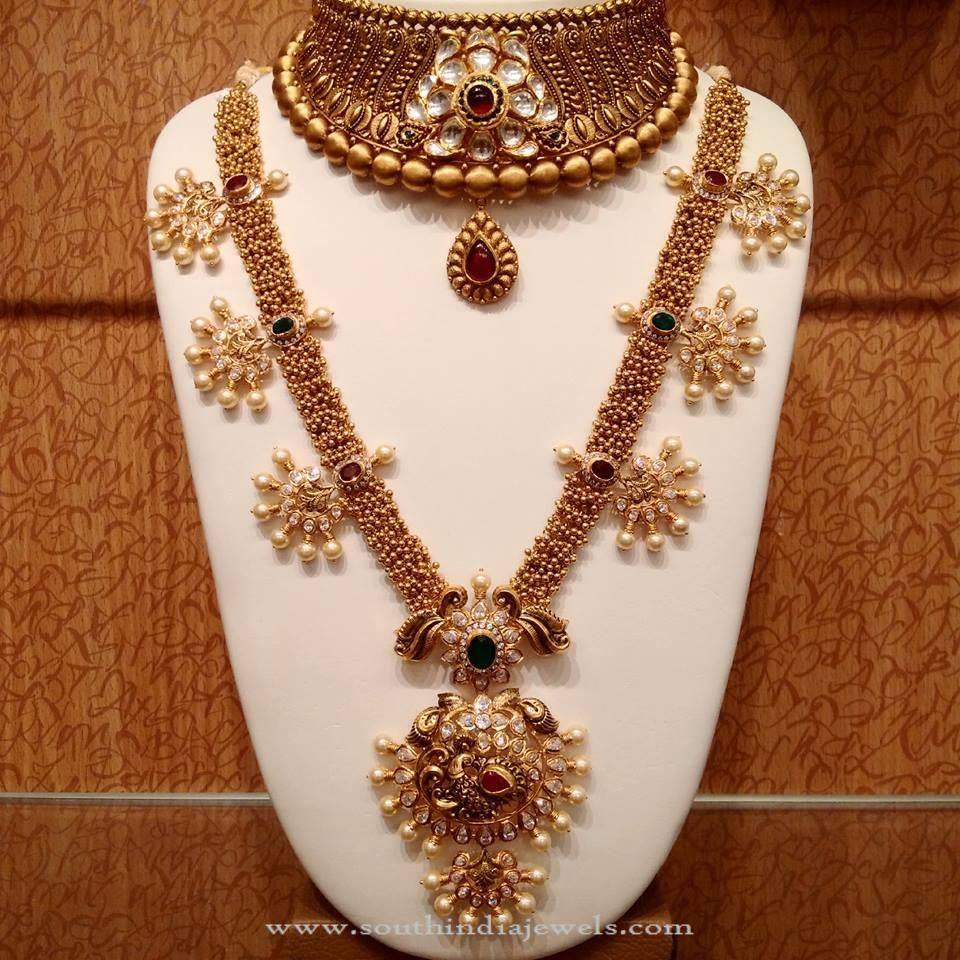 Gold Nakshi Work Jewellery Collection from NAJ | Jewelry ...