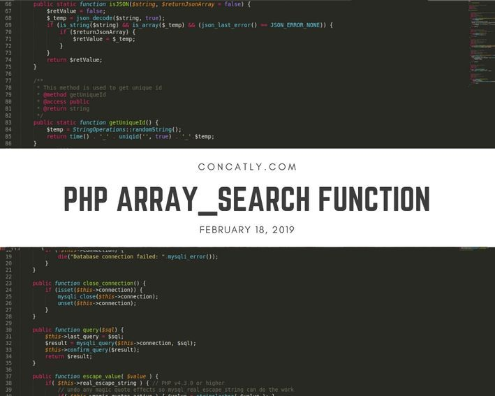 php function search in array