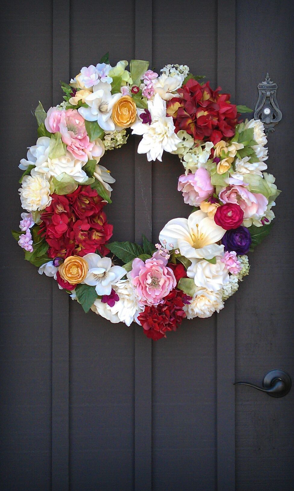 My Mothers Day Wreath For My Motheri Used The Flowers That We