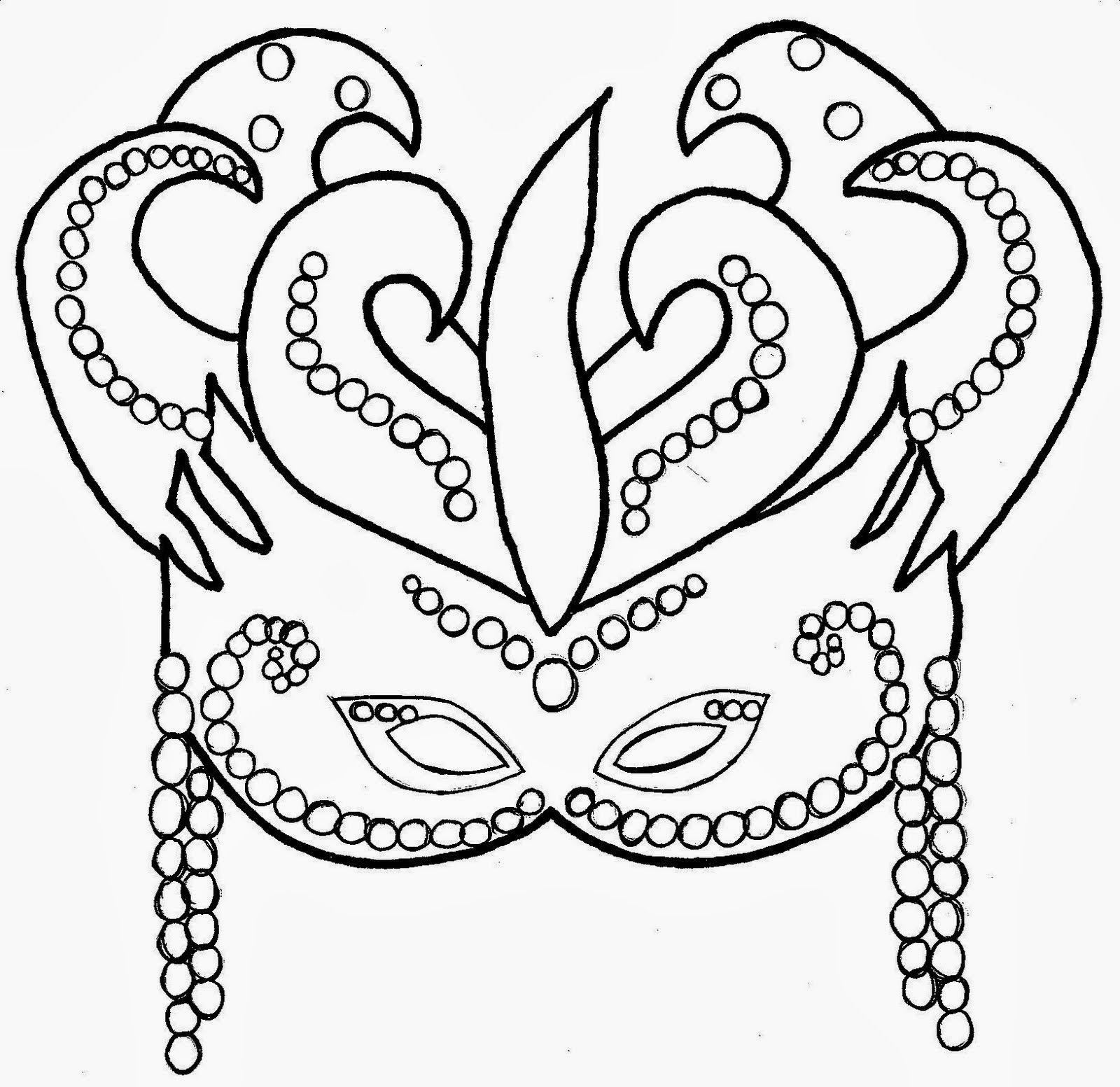 dibujos mascaras carnaval colorear - Buscar con Google ...