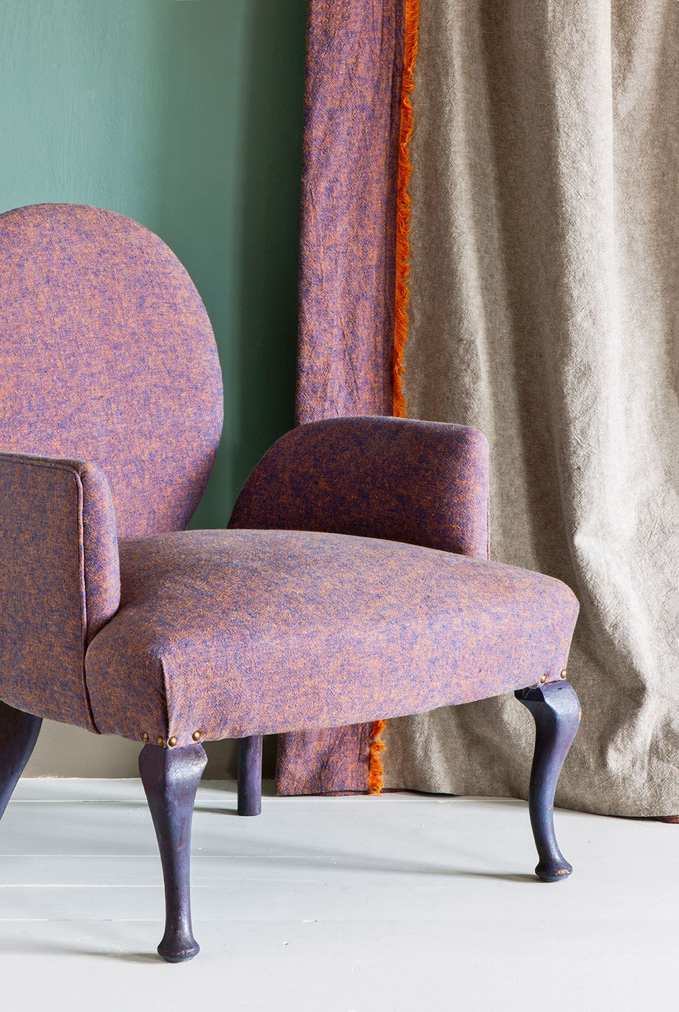Napoleonic blue barcelona orange napoleonic blue annie sloan napoleonic blue barcelona orange from the annie sloan coloured linen fabric collection the 10 gumiabroncs Image collections