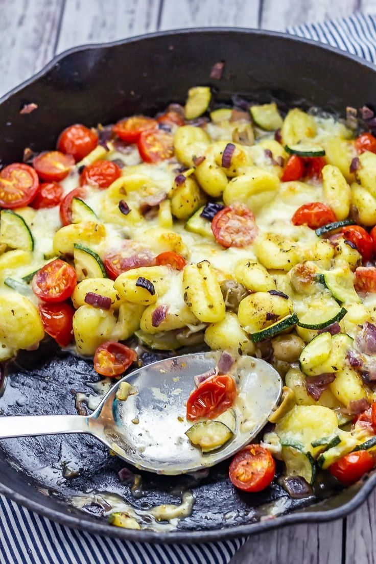This summer gnocchi skillet is full of fresh vegetables and chewy pillows of gnocchi It only takes one pan and can come together in half an hour With the arrival of the s...