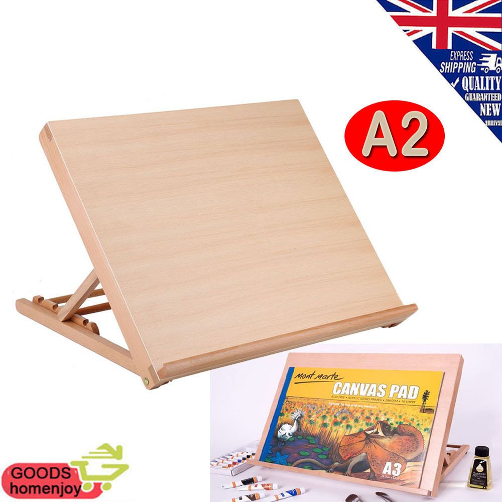 Artist easel art drawing painting wood table desk