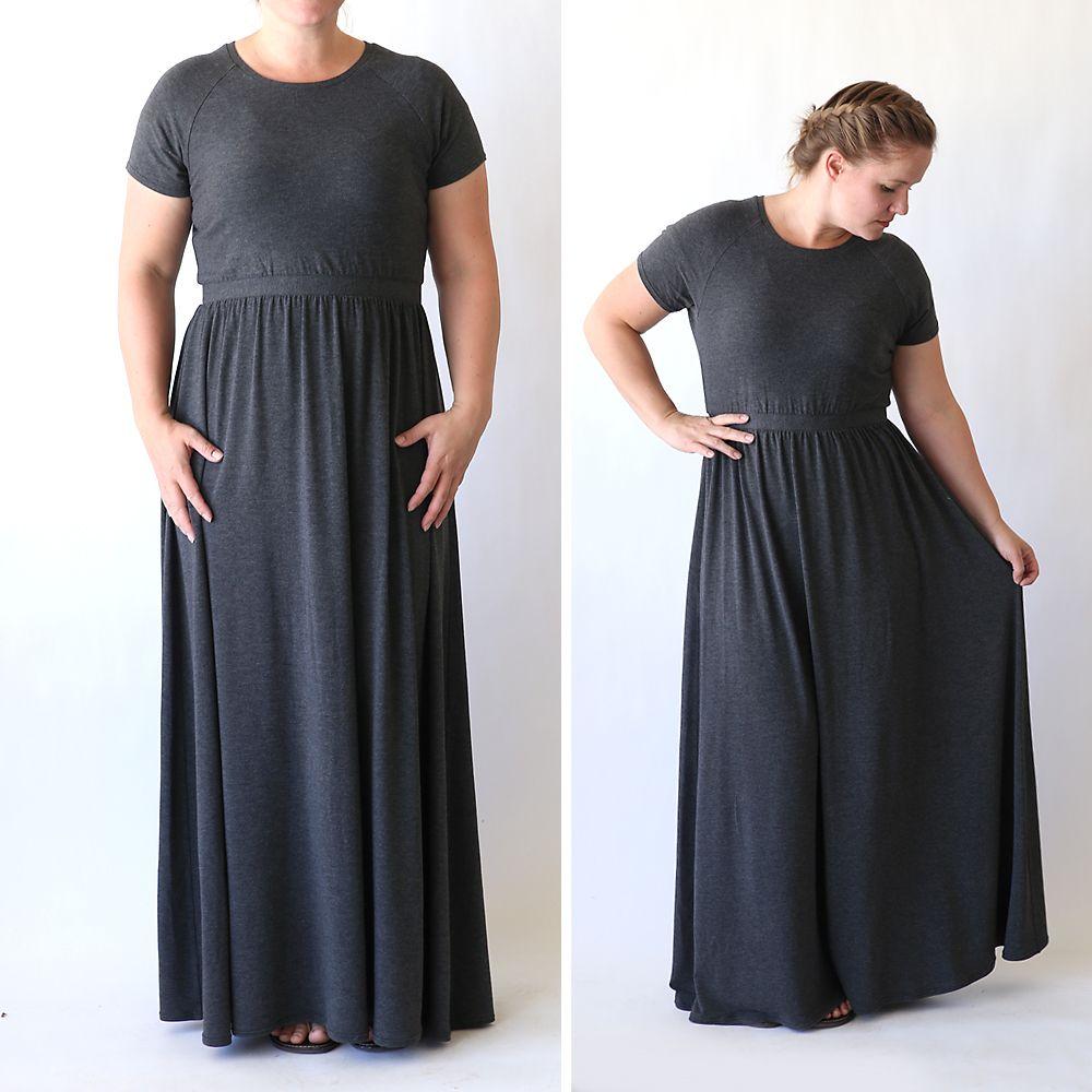 how to sew a raglan tee maxi dress | Kleidung nähen, Nähen und DIY ...