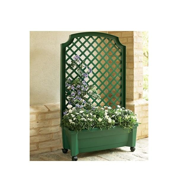 Planter With Trellis And Self Watering Reservoir Deck Pinterest