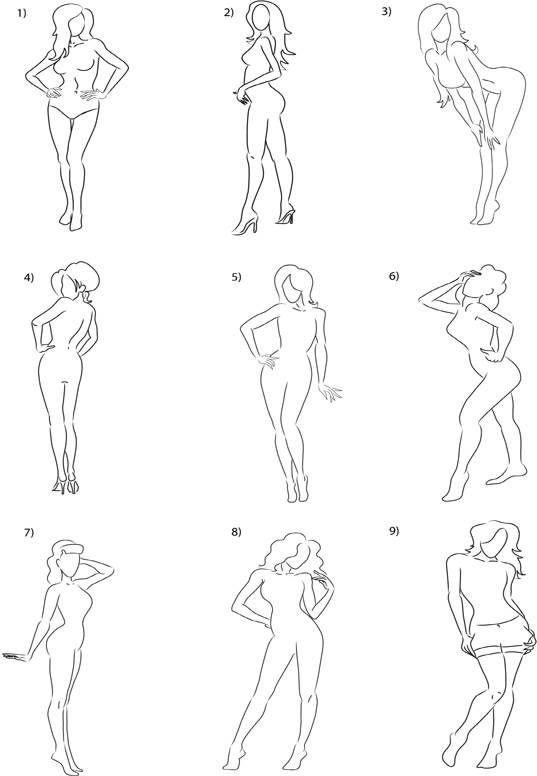 Cute sexy poses