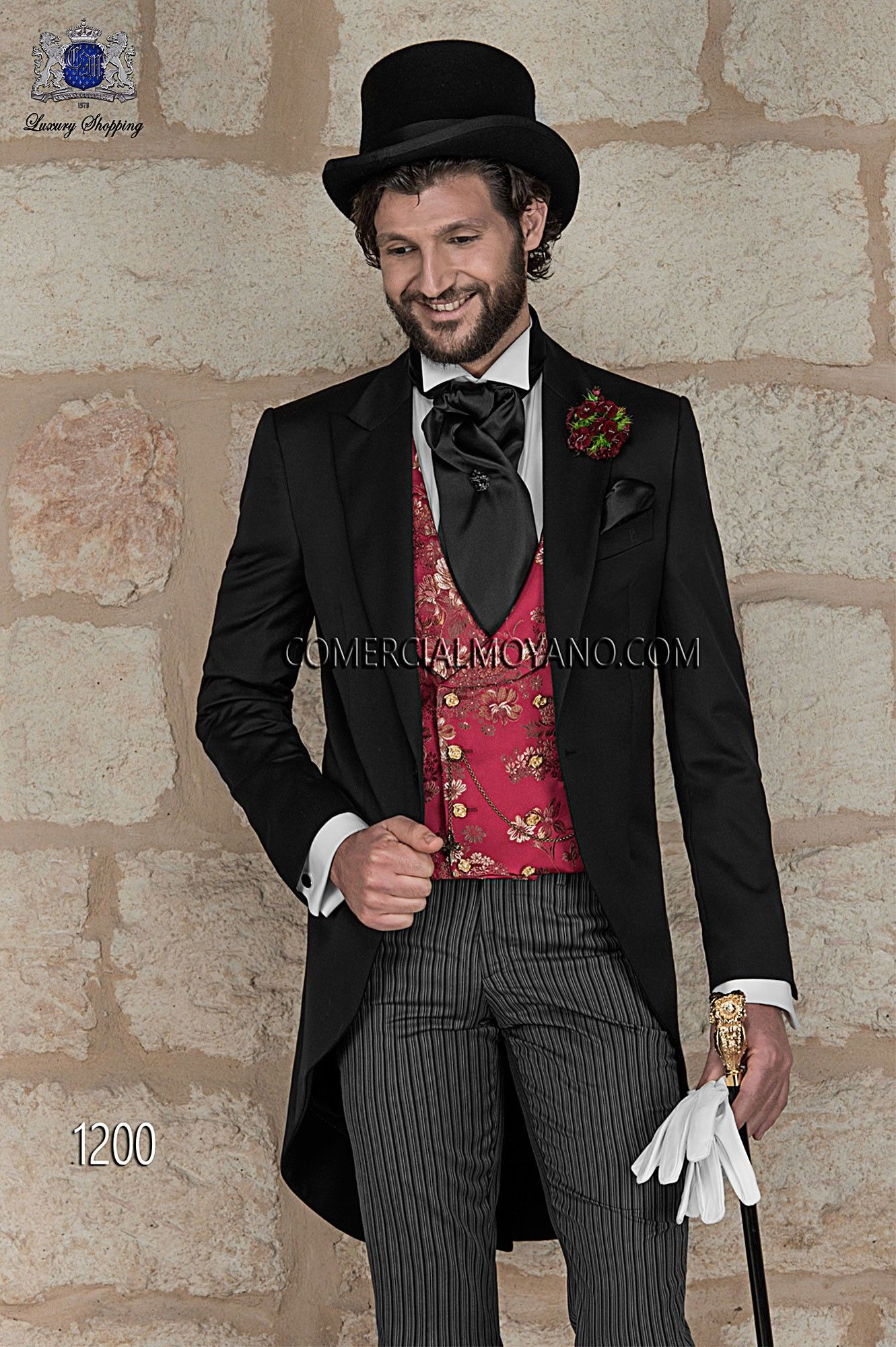 Chaqué diplomático negro | Men wedding suits, Morning suits and ...