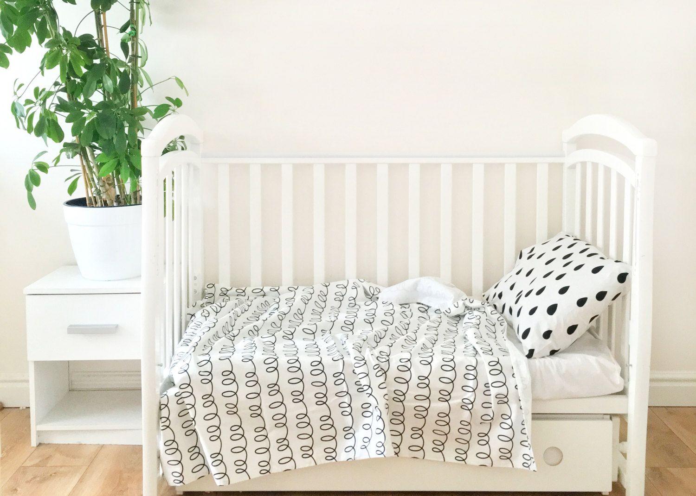 Baby Bedding - Nursery Bedding Set - Black Drops Bedding - Baby Bedding Crib  - Unique