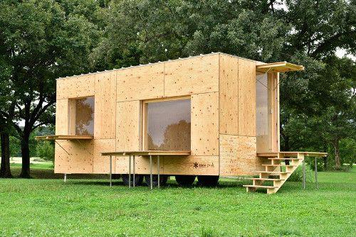Kengo Kuma Develops Timber Mobile Home For A Nomadic Lifestyle Proyec Casas Prefabricadas De Madera Casas Pequenas Prefabricadas Casas Hechas Con Contenedores