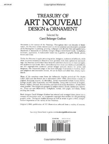 Treasury of Art Nouveau Design & Ornament (Dover Pictorial Archive): Carol Belanger Grafton: 9780486240015: Amazon.com: Books
