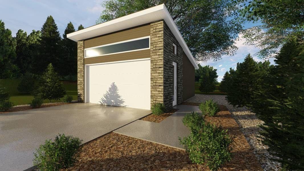 1 Car Garage Plan Pelini Garage Plan Garage Plans Garage
