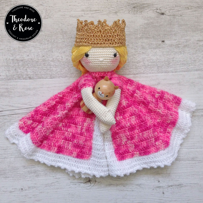 Princess crochet security blanket | lovey | Ariane The Little Princess | Crochet Pattern | PDF - PATTERN in English #securityblankets Ariane The Little Princess Security Blanket Crochet Pattern | Lovey Pattern #crochetsecurityblanket