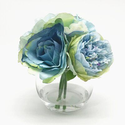 Mixed Colour and Plain Glass vase