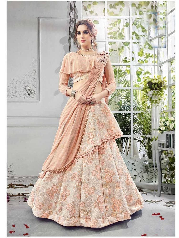 Bollywood Designer Indo Western Wedding Party Wear New Style Lehenga For Women Pingover Lehengacholi