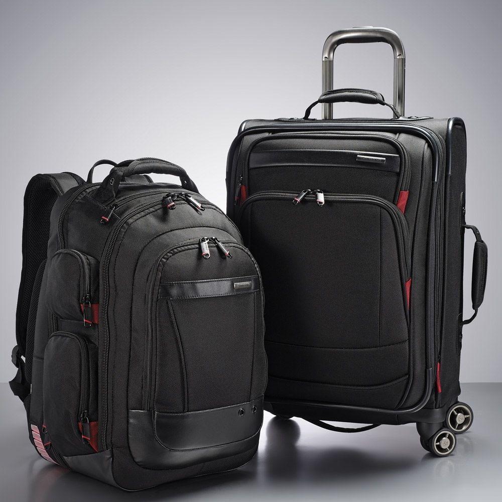 Samsonite Prowler 2 Piece Spinner Business Luggage Set Travel Suitcases BackPack & Samsonite Prowler 2 Piece Spinner Business Luggage Set Travel ...