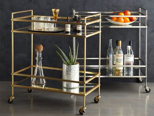 Definitely Painting My Bar Cart Gold Splurge Vs Steal Home Decor Finds On A Budget