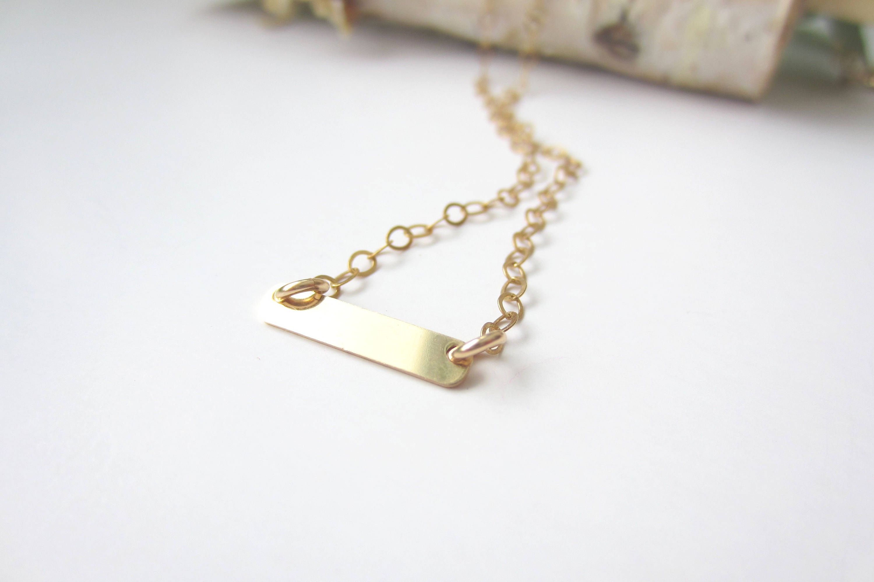 her fill necklace gift sageandolivia pendant on friday for black tiny filled gold by choker bar pin minimalist jewelry