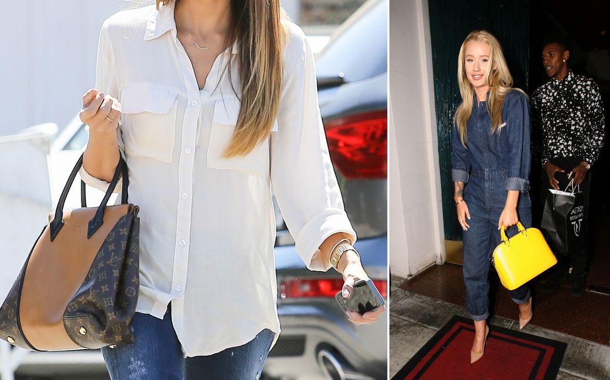 celeb celebrities wearing Louis Vuitton PM size alma W bag  8392e7cc7376c