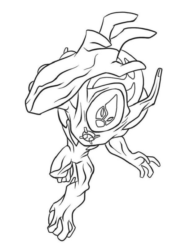 Ben 10 Ultimate Coloring Pages Alien Force Coloring Pages