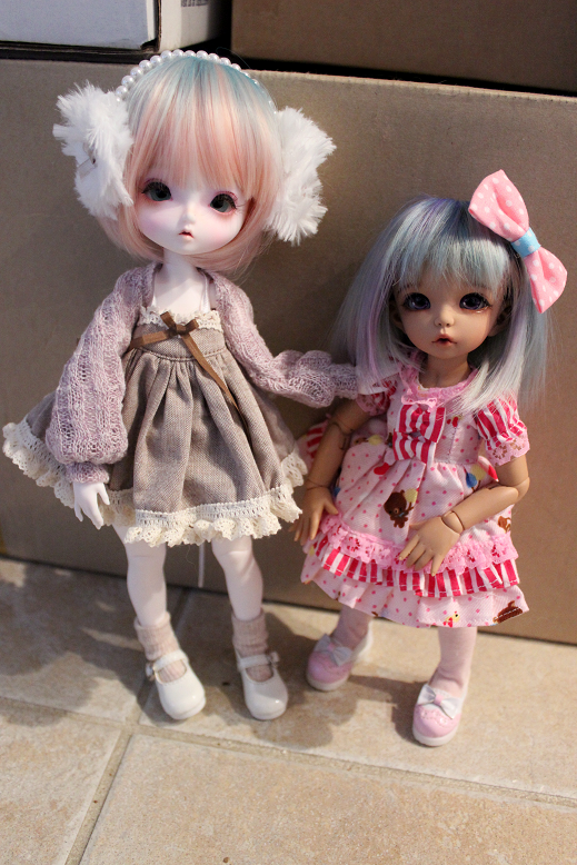 Leekeworld B-type Chloe next to Littlefee Ante. They are such a cute size next to littlefee!