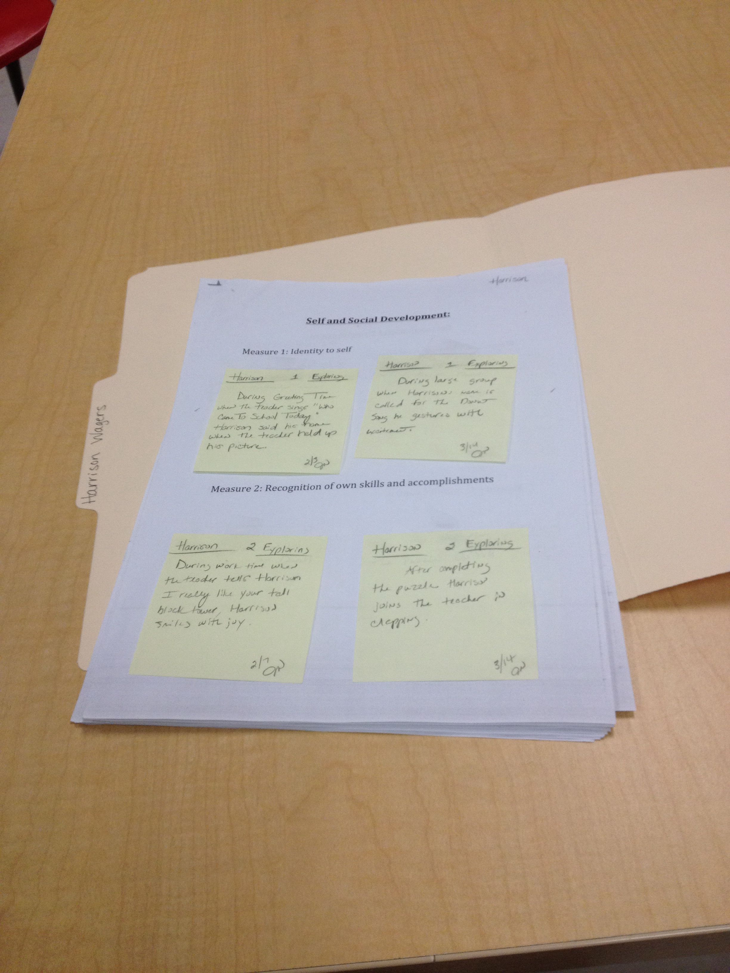 These Collection Packets Offer Space For Each Measure To Place Sticky Notes Of Observations On