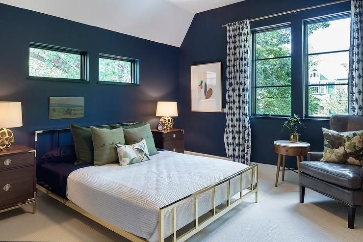 CB2 Alchemy Shiny Brass Bed And West Elm Malone Campaign