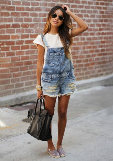 87dbc9d1366 shorts playsuit jeans jumpsuit shoes bag pants overalls denim overalls  oversized jumper sincerely jules sincerelyjules tumblr summer outfits  tumblr outfit ...
