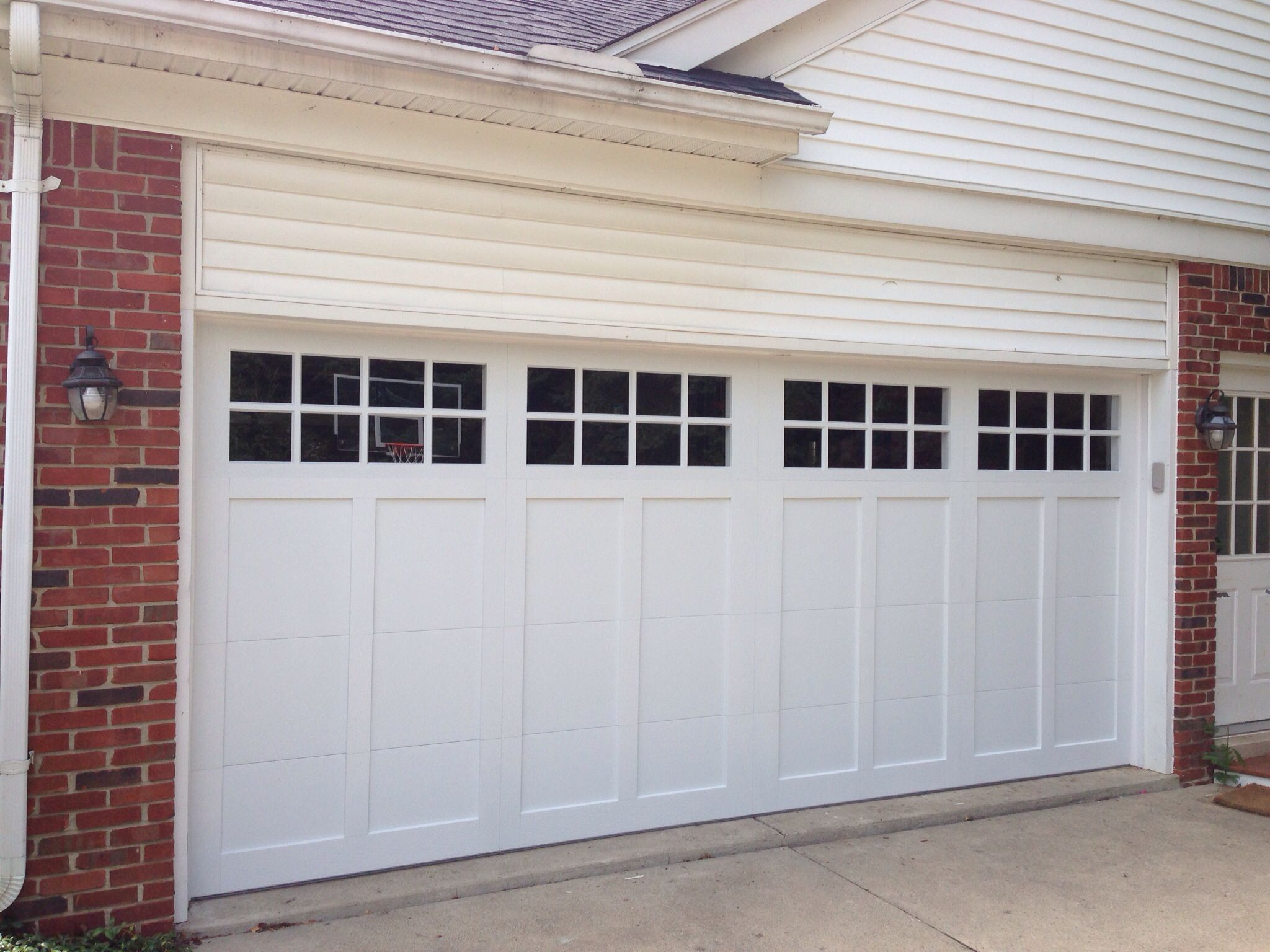 16 39 x 7 39 c h i garage door model 5330 color white for 18x8 garage door