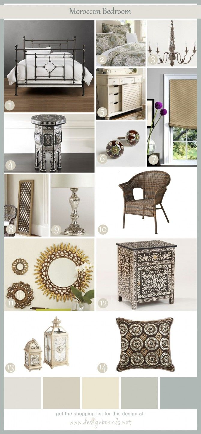 Moroccan Bedroom 5 | Design Boards. I like some of these things ...