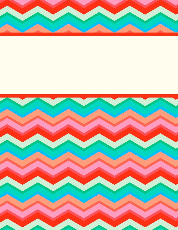 Free printable chevron binder cover template. Download the cover in ...