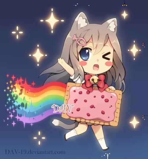 Chibi Nyan Cat by on deviantART