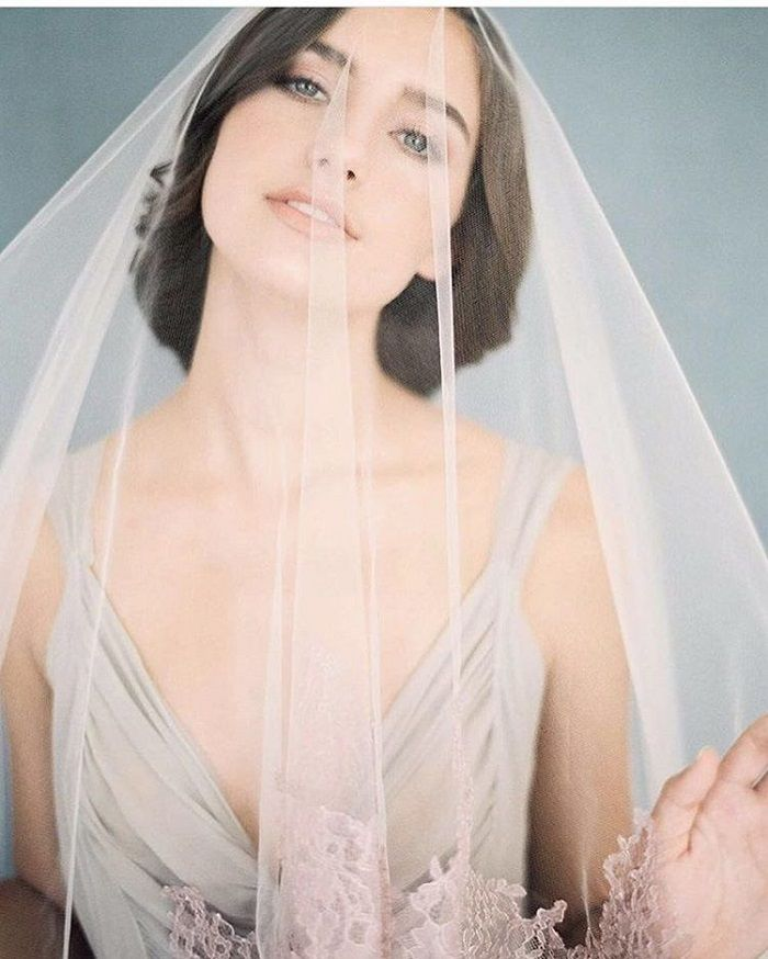 Wedding hairstyles for long hair with veil | fabmood.com #hairstyles