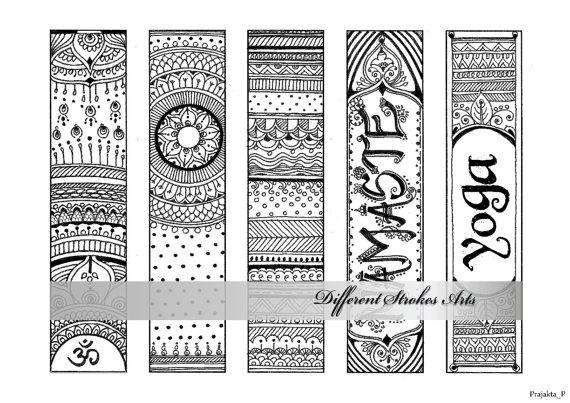 Printable Bookmarks Coloring Om Bookmarks Zendoodle Bookmarks