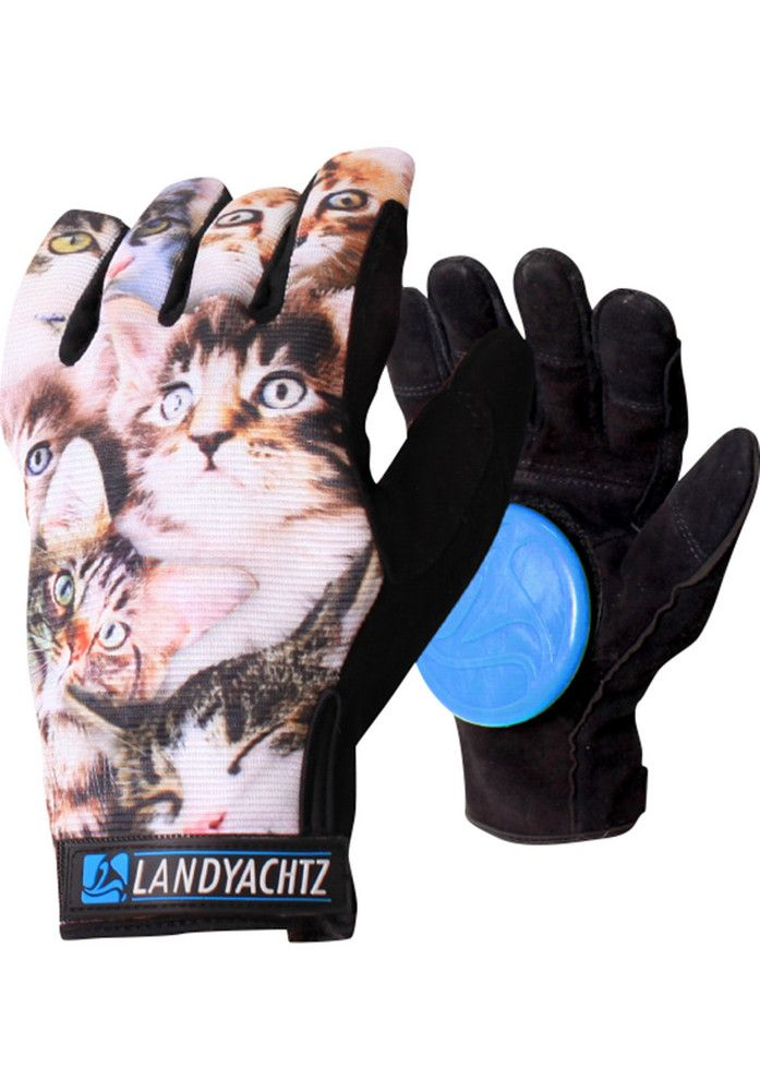 Landyachtz Cat-Pattern-Freeride-Slide-Gloves - titus-shop.com  #HandProtection #Skateboard #titus #titusskateshop