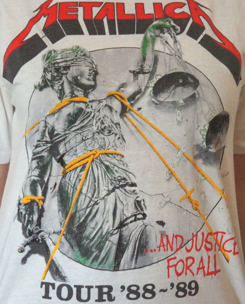 9d553908 Metallica 1988-89 ...And Justice For All Tour T-shirt WIth the Cult ...