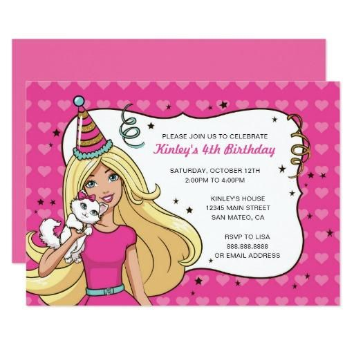 Barbie heart pattern birthday invitation heart patterns and birthdays mothersday adorewe zazzle personalized zazzle barbie heart pattern birthday invitation adorewe stopboris Images