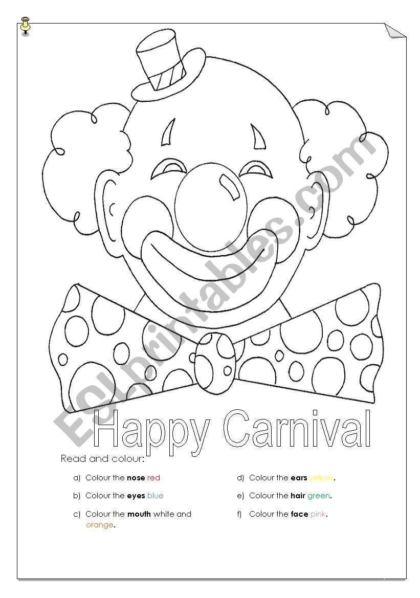 Happy Carnival Esl Worksheet By Serennablack Preschool Worksheets Carnival Activities Carnival [ 1169 x 821 Pixel ]