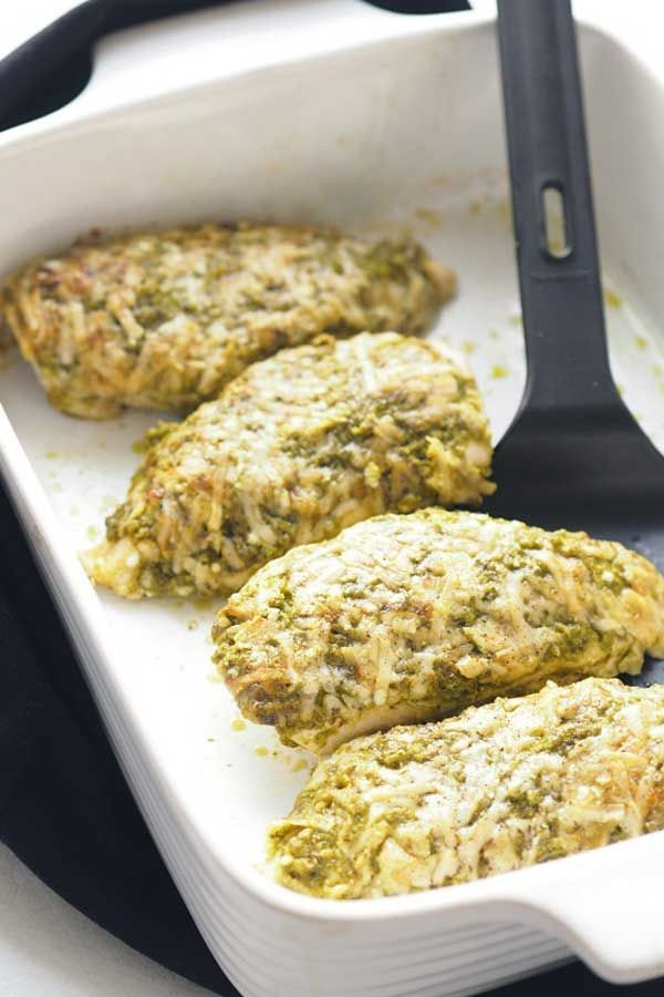 BAKED PESTO PARMESAN CHICKEN  Chicken is a popular family favourite ingredient Its probably one of the most used proteins around the world Kids also tend to like chi...