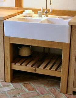 Freestanding Kitchen Oak Sink Unit Dřezy Domov Dřevo