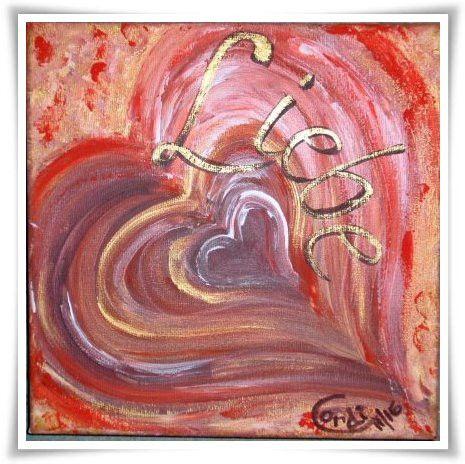Acrylmalerei Acrylbild Love Ein Designerstuck Von